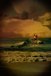 Girl in the water by allyssa-found-sanity