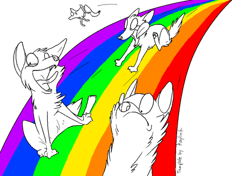 Rainbows template by Kaylink
