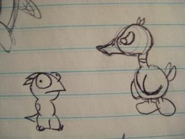 Ducky and Nameless Guy that I Always Doodle by GECKO-Nuzlockes