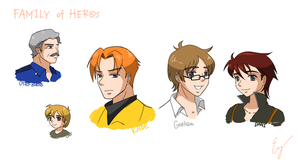 TFRB: Family of Heros by Evelynism