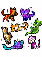 Free adoptable kittens CLOSED by Squid-Cookies
