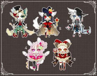 [OPEN] Adoptable 140 - CIRCUS FREAK AUCTION by Puripurr