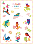 Flower bird sticker by pikaole