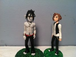 Stan and Valkon clay figures by NatsumeWolf