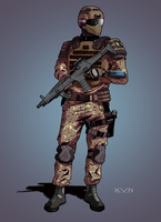 Sedran soldier|Commission by Pino44io