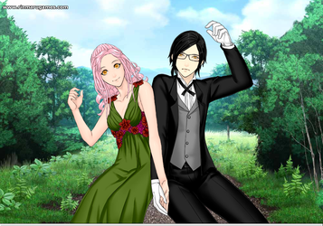 Black Butler: Claude and Crystal by LadySesshy