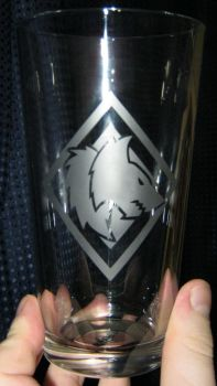 Space Wolf pint glass by nekomatafuyu