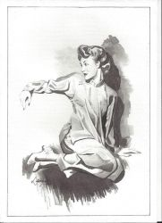 seated woman by lidianne