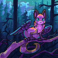 In the woods by griffsnuff