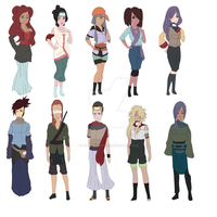 -Naruto Adoptables Set #27- by pepper-adopts