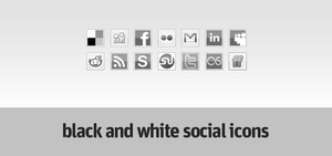 Black and white social icons by Doru94