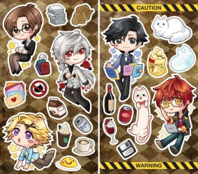 Mystic Messenger Stickers by miaow