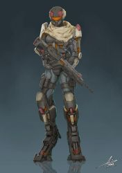 Commission: Exosuit by aiyeahhs
