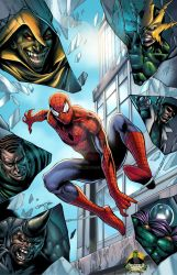 Spider-Man vs Sinister Six - colored by spidey0318