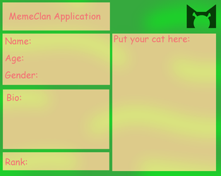 MemeClan Application by KitCatty235