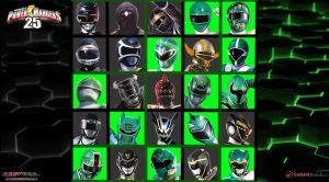 25th Anniversary Of Black and Green Rangers by scottasl