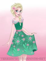Elsa Frozen Fever Dapper day by TheBirdFromTheMoon