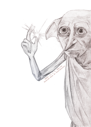 Dobby, The House Elf by heartbreakdi