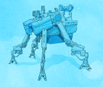 Mech Walker Thing by Hyptosis