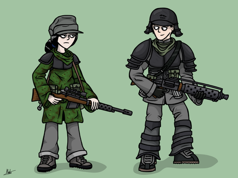 Sniper and Gunner by The-General-Moe