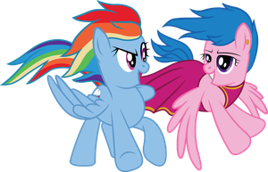 Rainbow Dash and Fire Fly Vector by MLP-Mayhem