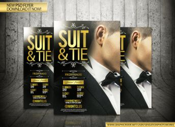 Suit And Tie Flyer Template by SensationPhotoworks