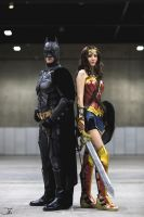 Wonder Woman and Batman Cosplay by WhiteSpringPro