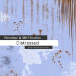 Distressed Photoshop and GIMP Brushes by redheadstock