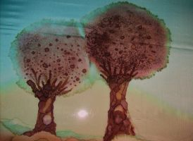 big and little tree by ingeline-art
