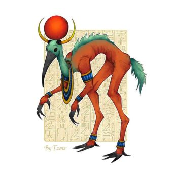 Egyptian God - Thoth by Tzenor