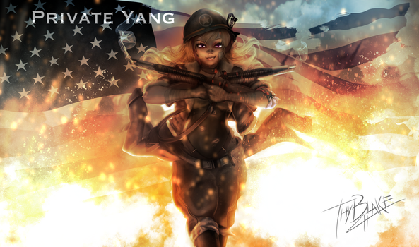 RWBY [WW2 Nations] USA - Yang by ThyBlake