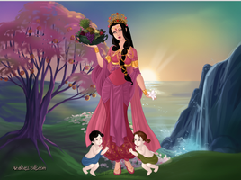 Lady of the Three Worlds : Goddess Parvati by primakyria