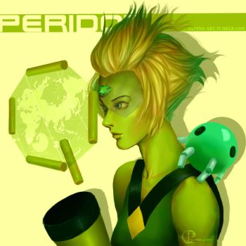Peridot Facet-2F5L Cut-5XG by GLPing