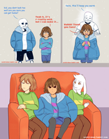 Undertale comic: Cold Frisk by atomicheartlight