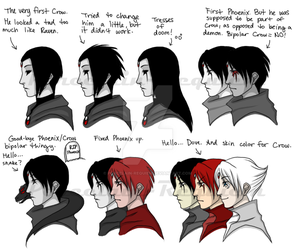 The Evolution of an OC... by Porcelain-Requiem