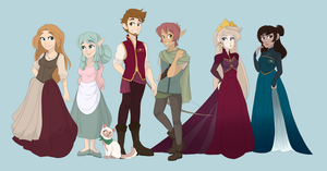 feels like a fairytale - character line up by Maddymoiselle