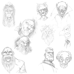 Face Doodles 1of3 by PlanetKhaos