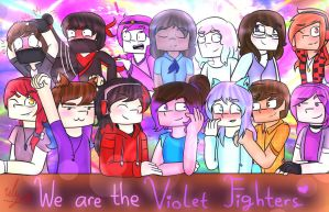 We Are The Violet Fighters! by TheMaroonLightning