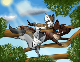 Squirrel Chase by Amberskyy