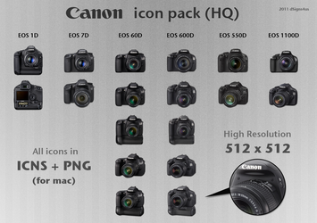 Canon DSLR Icon Pack HQ - 4mac by dSigns4us