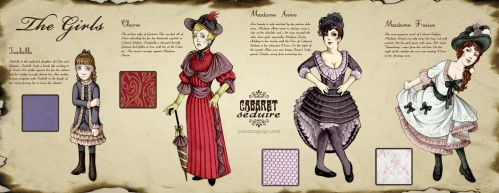 Caberet Seduire: The Girls by ErbyDraws