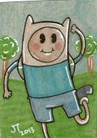 Old School Adventure Time Sketch Card by johnnyism