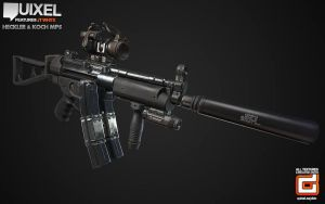 MP5 Redux + Quixel Feature by GrimmWrecking