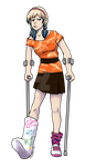 Keti on Crutches (Lead Jammer Mag) by gingerbreadart