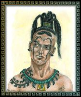 Aztec Warrior by she1badelf
