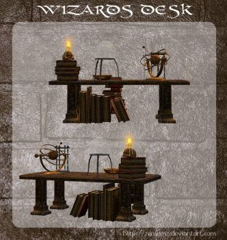 3D Wizards Desk by zememz