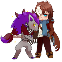 COMMISSION: Newt and Shiny Zoroark by SeviYummy