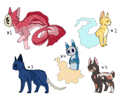 CLOSED Cheap Cat Creature Adoptables by MsCasual