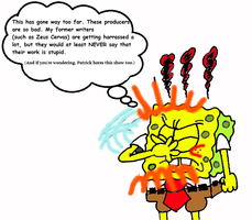 Spongebob is fed up with Jelenic and Horvath by BobClampettFan164