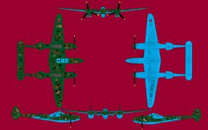 P-38 Confederate Lightning by bubba145